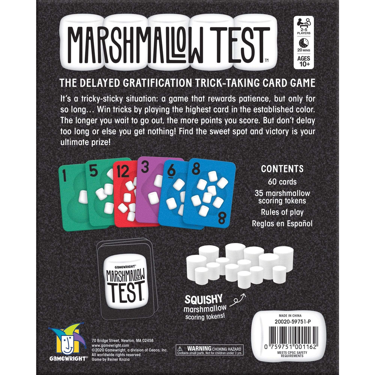 Marshmallow Test Gamewright Board Games