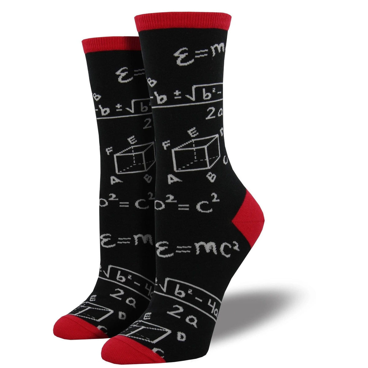 Math socks - black - womens Sock Smith Clothing/Accessories