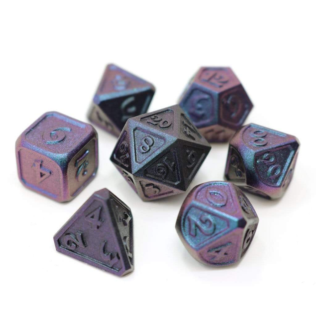 Metal Dice Set: Dreamscape Lunar Abyss Die Hard Dice Puzzles/Playthings