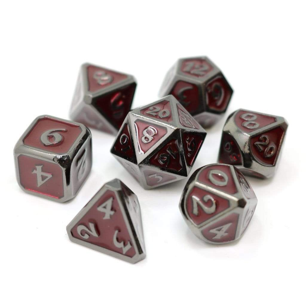 Metal Dice Set: Mythica Sinister Ruby Die Hard Dice Puzzles/Playthings