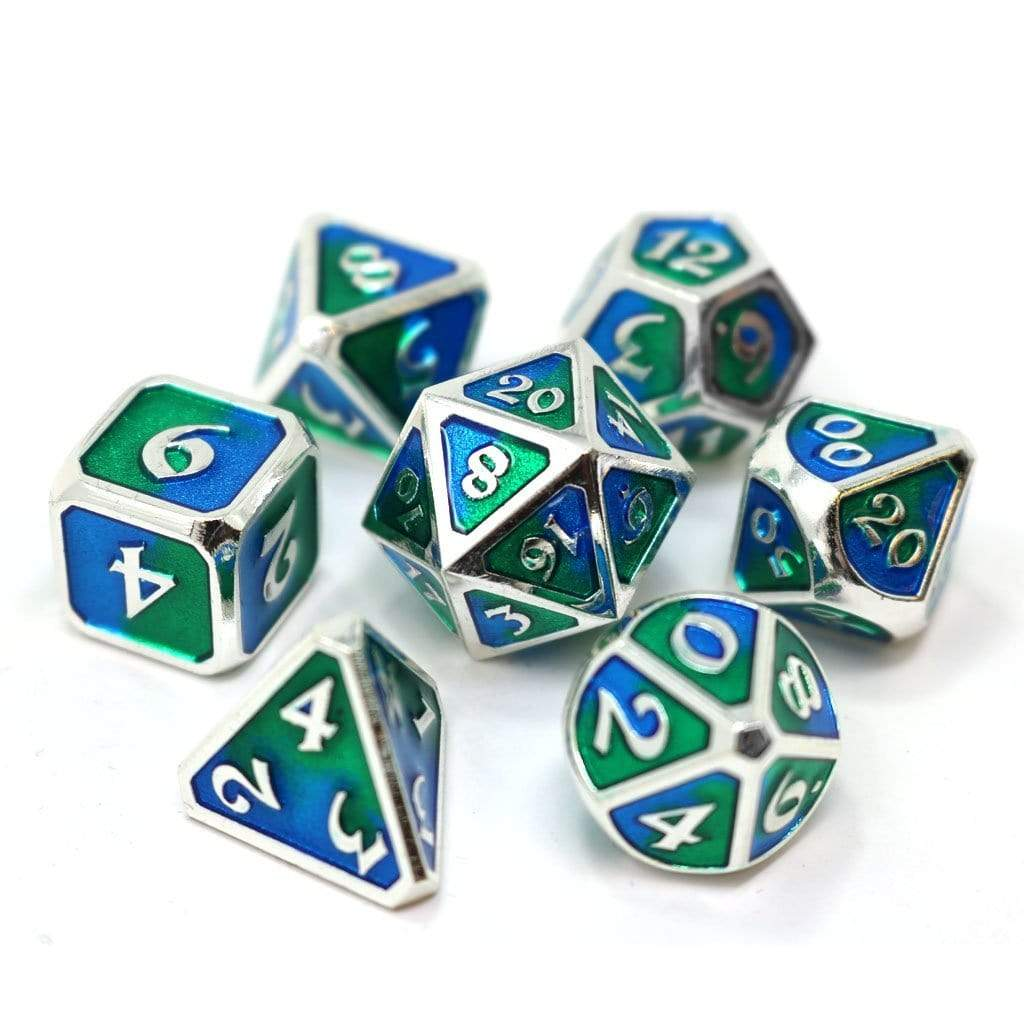 Metal Dice Set: Spellbinder Gaia Die Hard Dice Puzzles/Playthings