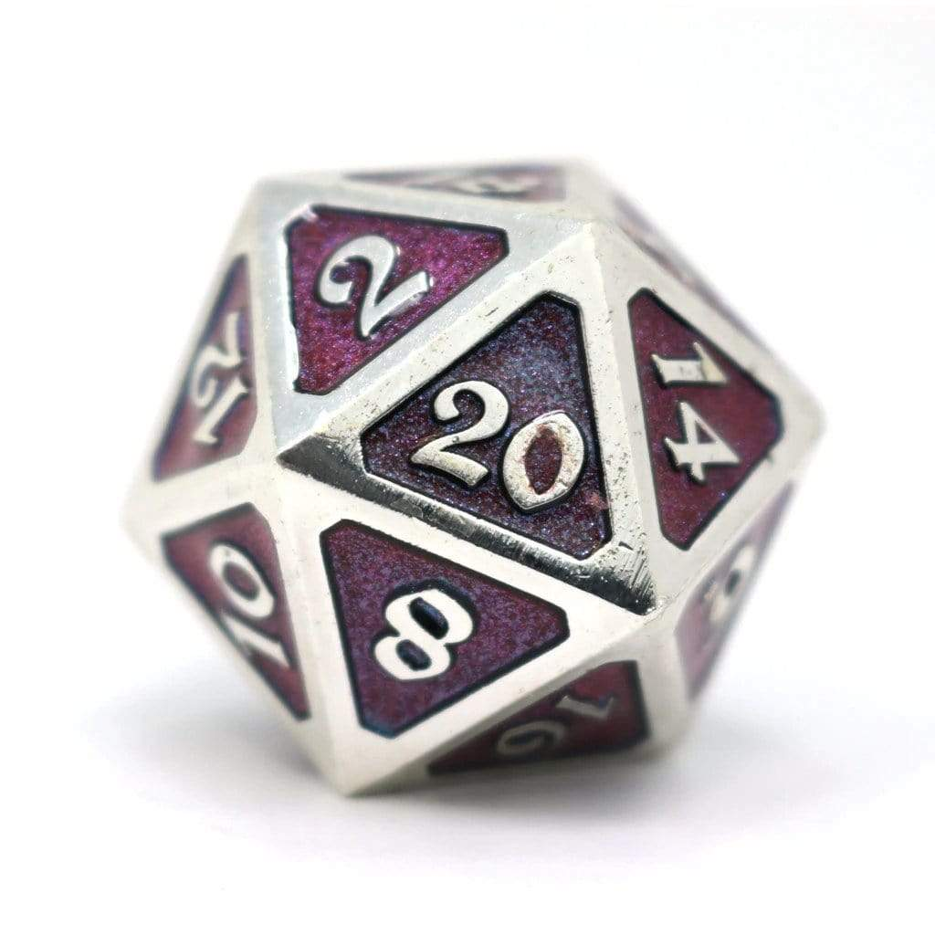 Metal Dire d20:  Dreamscape Tundra Melody Die Hard Dice Puzzles/Playthings