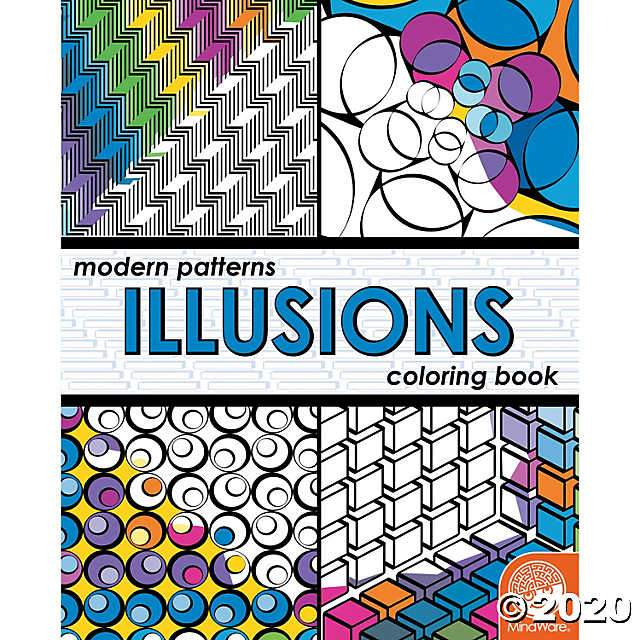 Modern Patterns: Illusions coloring book Mindware Art Supplies