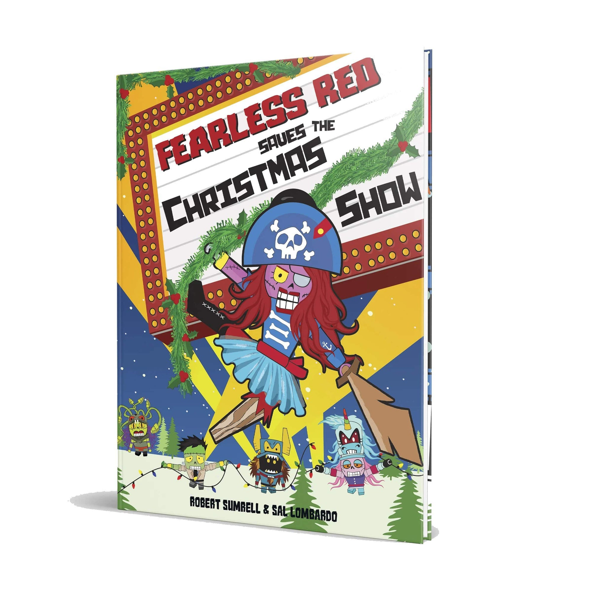 Monster Crackers Book - Fearless Red and The Christmas Show Monster Crackers Books