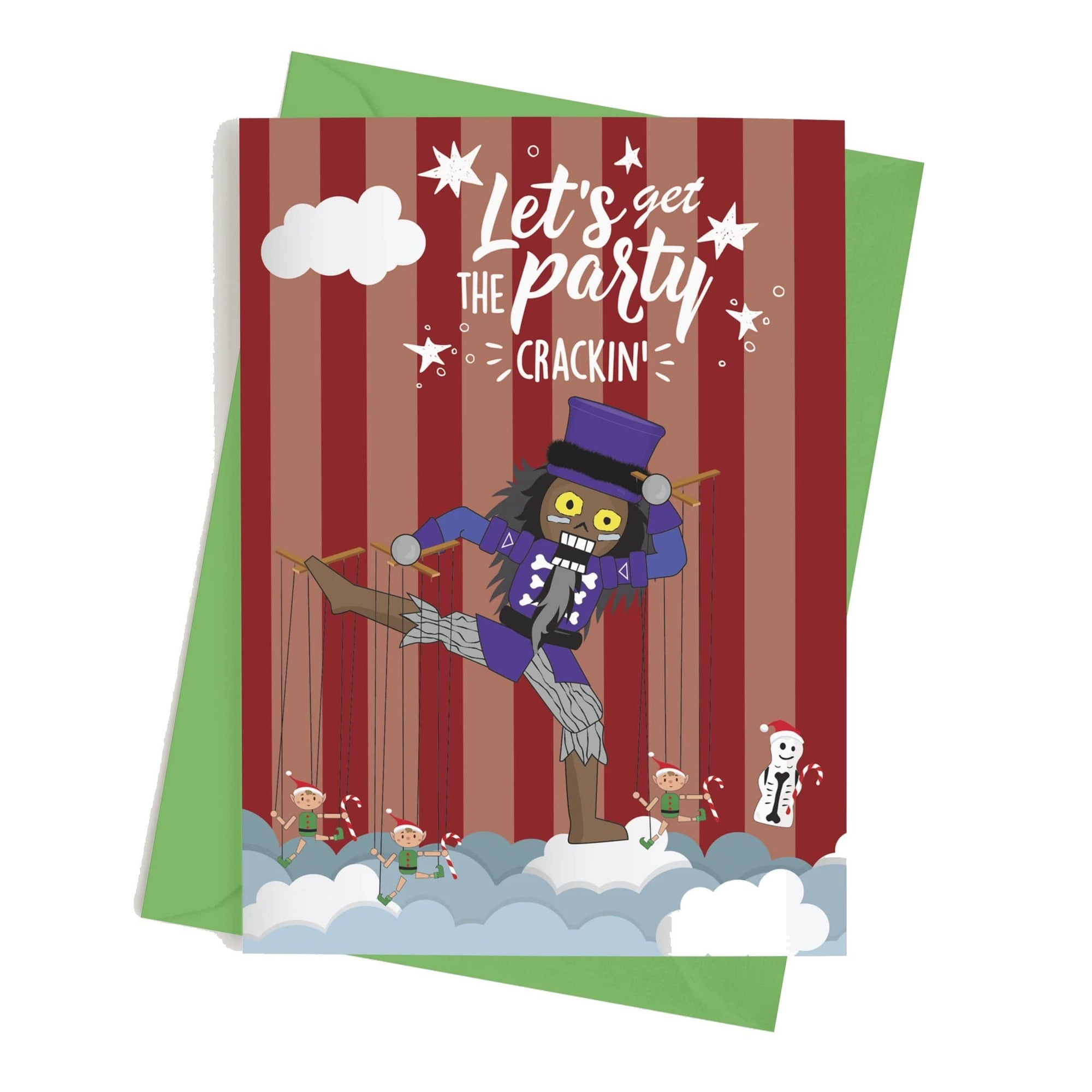 Monster Crackers Card - Let's get the Party Crackin' Monster Crackers Paper Products