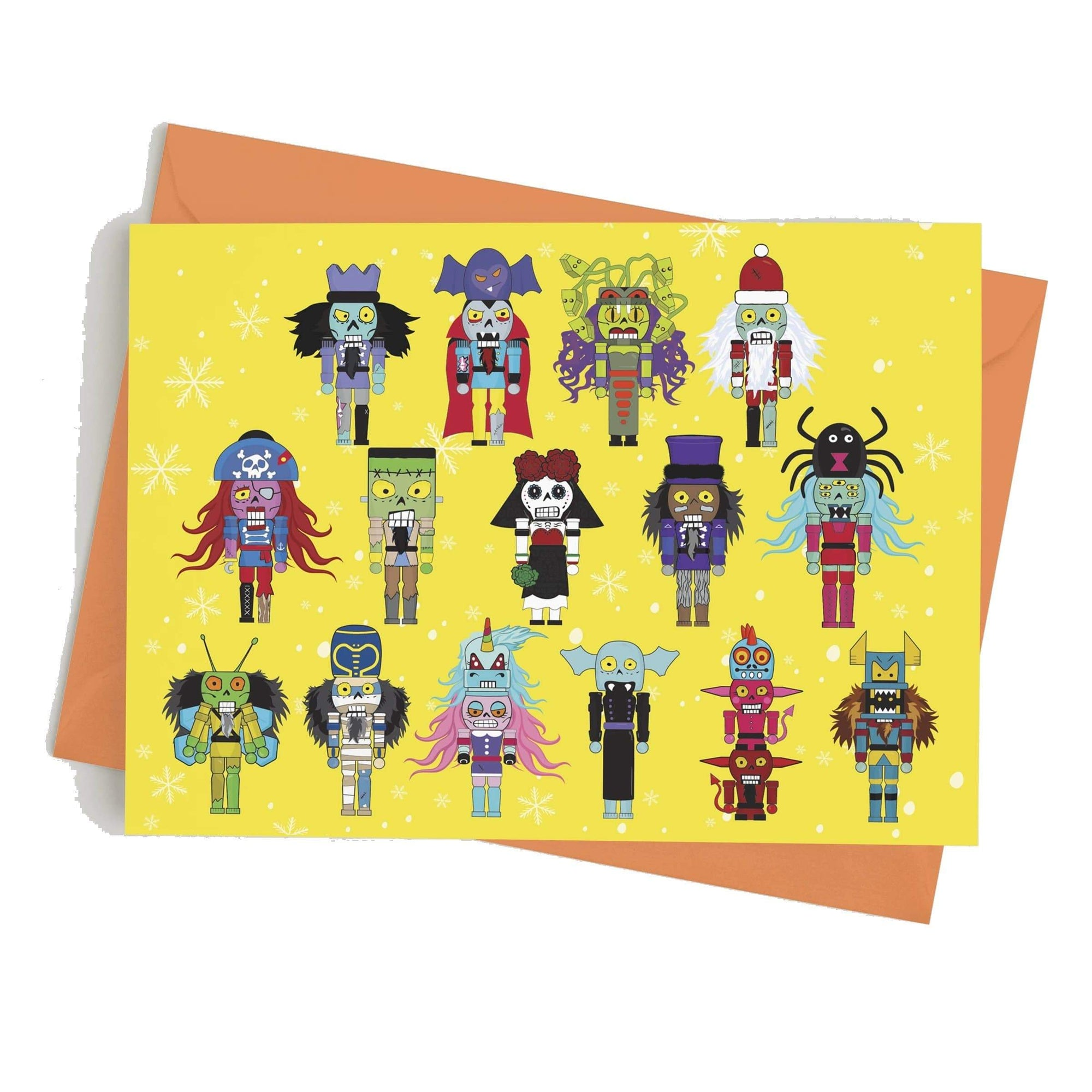 Monster Crackers Card - Merry Monster Christmas Monster Crackers Paper Products