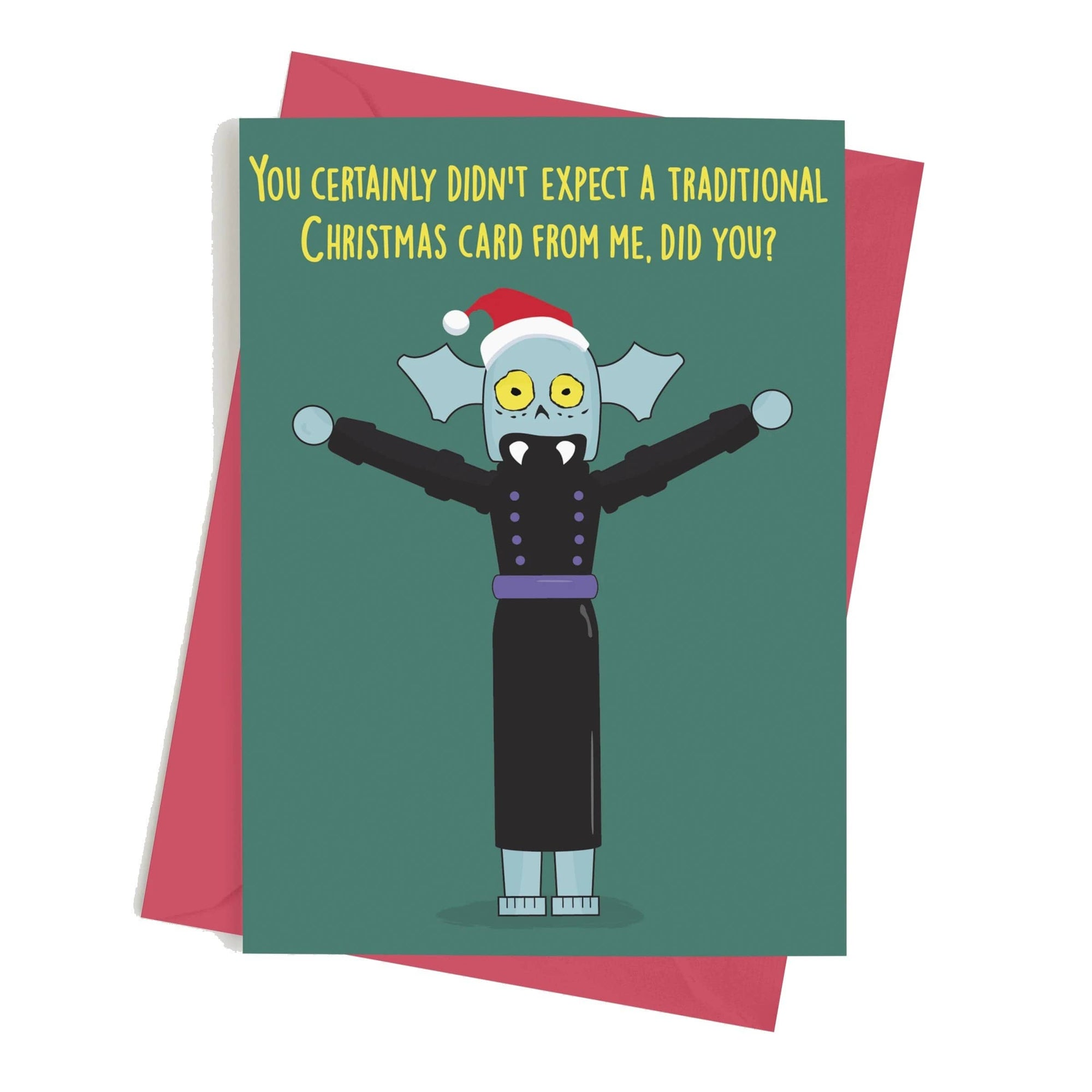 Monster Crackers Card - Not a Traditional Christmas Card Monster Crackers Paper Products