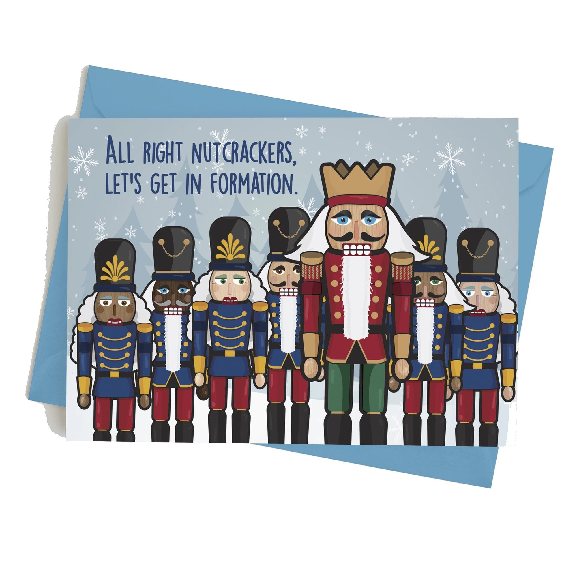 Monster Crackers Card - Nutcrackers Formation Monster Crackers Paper Products