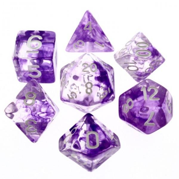 Nebula Purple dice set HD Dice / Hengda Mfg. Puzzles/Playthings
