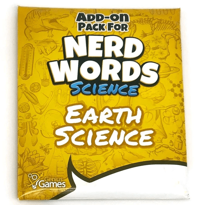 Nerd Words Science: Earth Science Add-On Genius Games Board Games