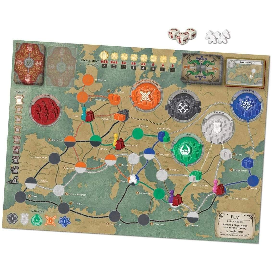 Pandemic: Fall of Rome Alliance Games Board Games