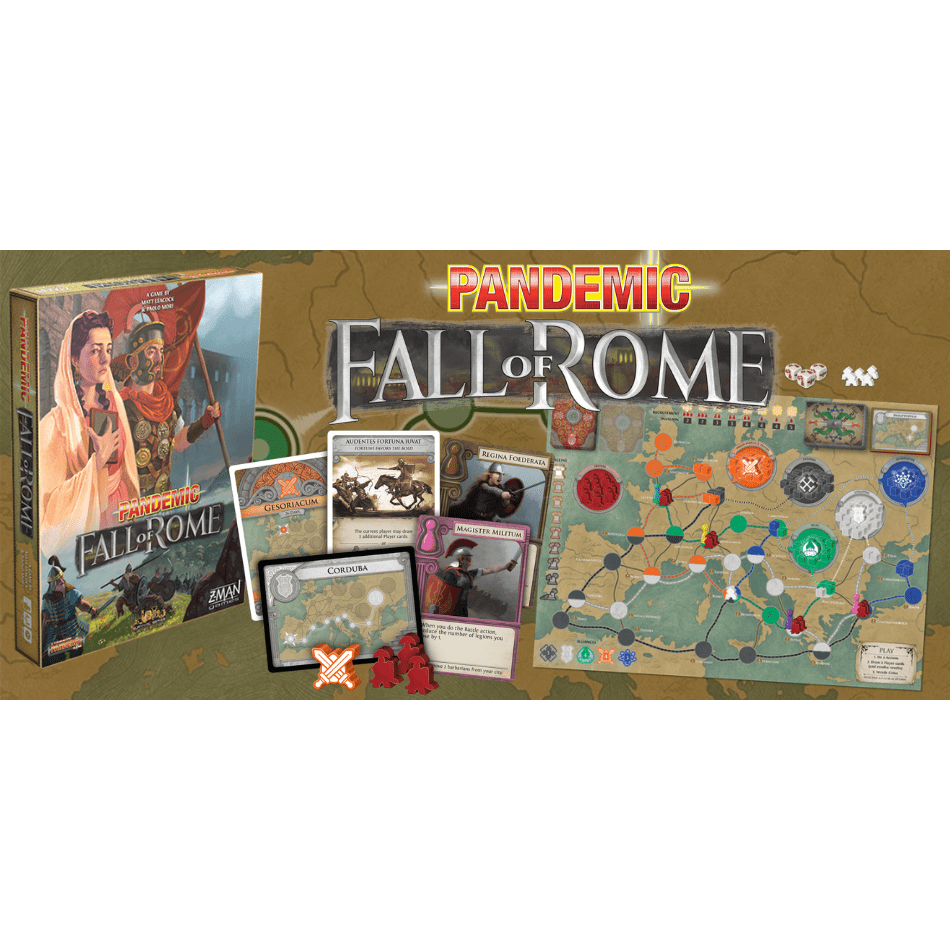 Rosy Brown Pandemic: Fall of Rome Board Games Alliance Games