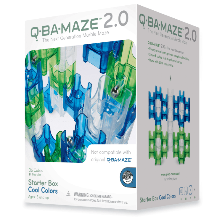 Q Ba Maze 2.0 Cool Colors Starter Box Mindware Projects/Kits