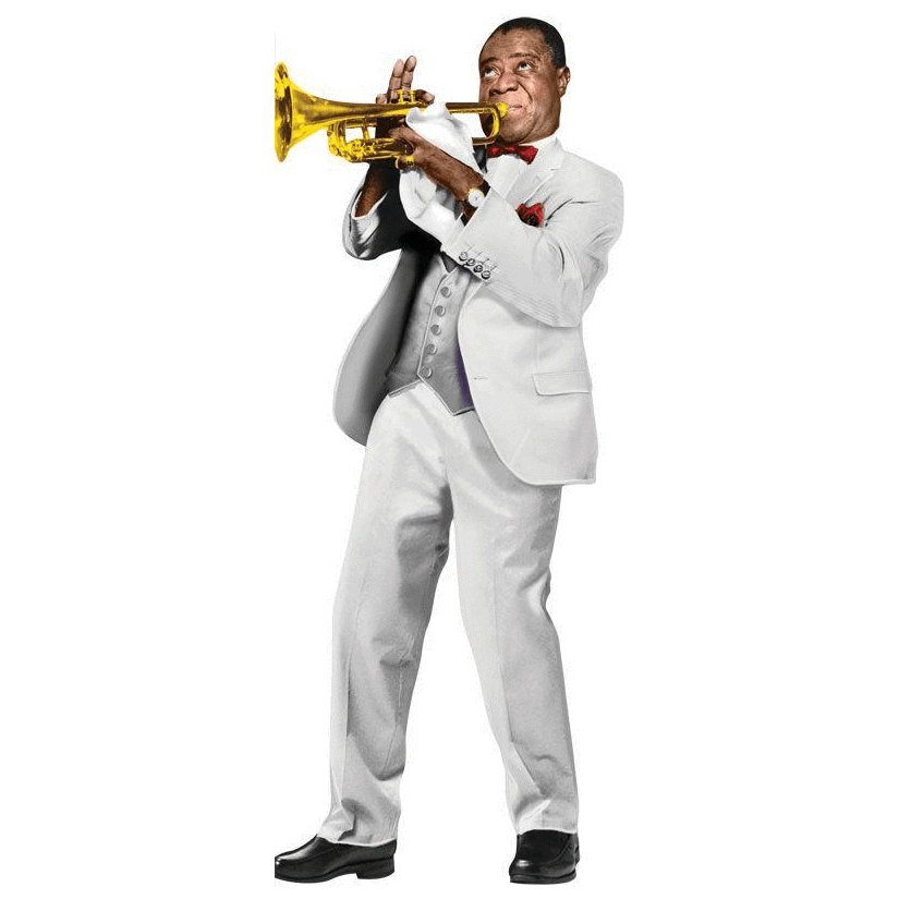 Quotable Notable: Louis Armstrong card Unemployed Philosophers Guild Paper Products