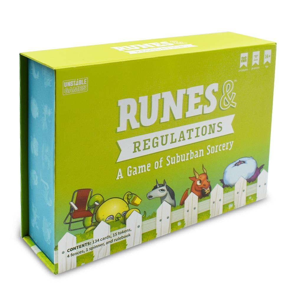 Runes & Regulations: Game of Suburban Sorcery TeeTurtle Board Games