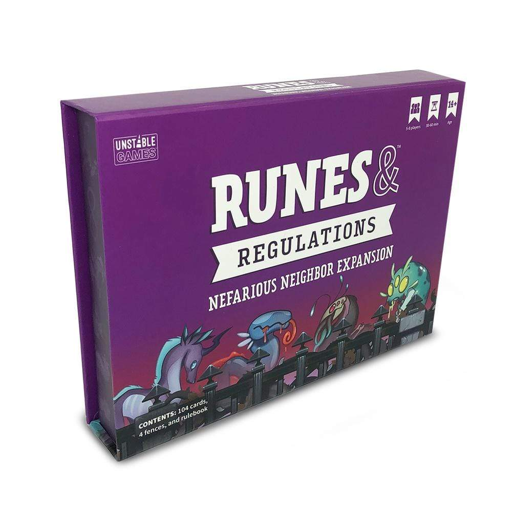 Runes & Regulations: Nefarious Neighbor Expansion TeeTurtle Board Games