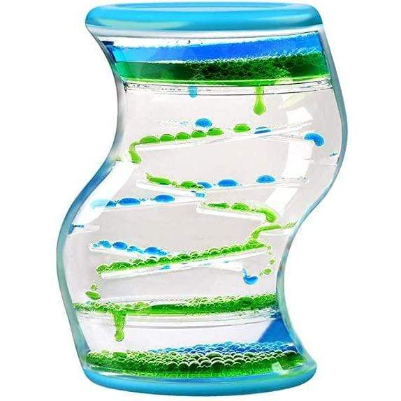 S-Shape Liquid Timer - blue Tedco Puzzles/Playthings