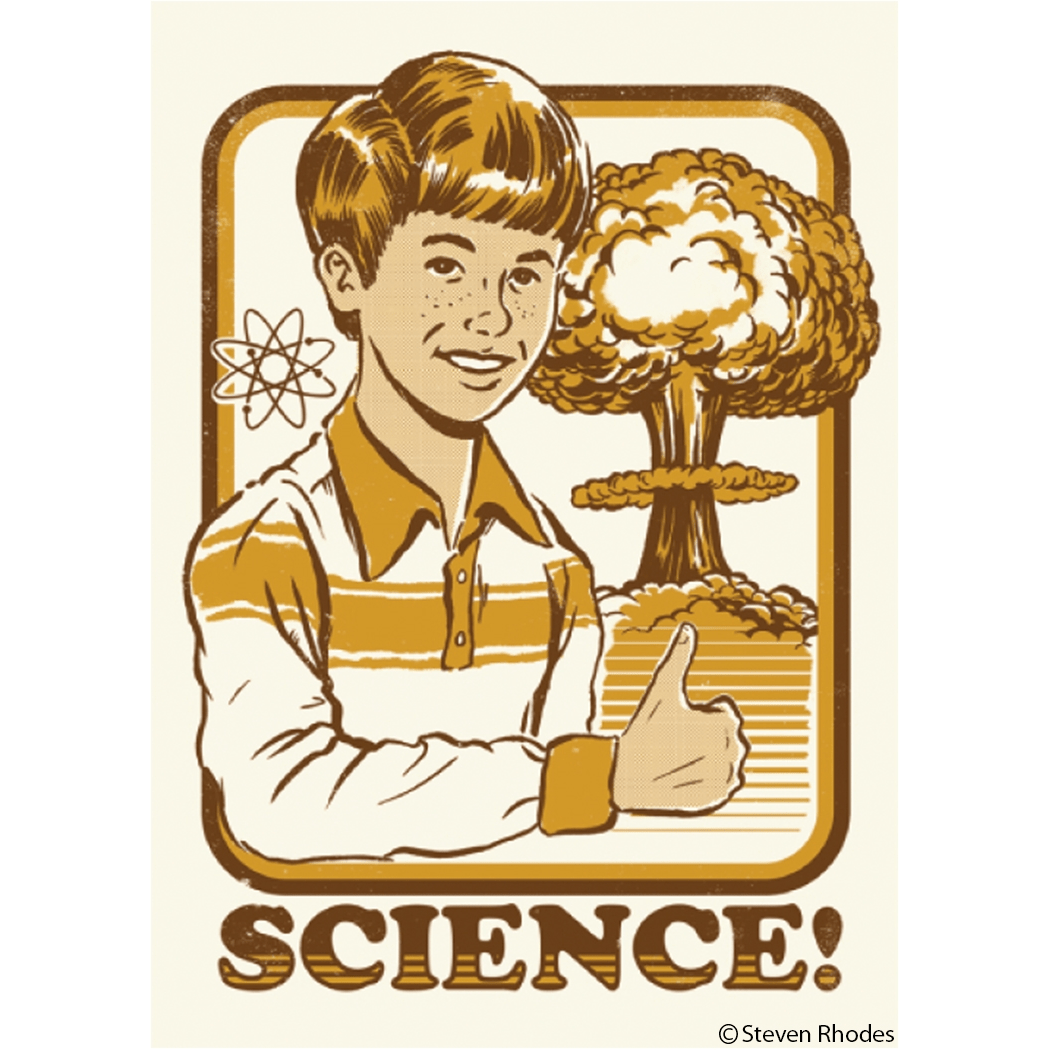 Science! magnet Ephemera Home Decor/Kitchenware