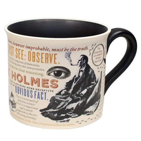Sherlock Holmes mug Unemployed Philosophers Guild Home Decor/Kitchenware