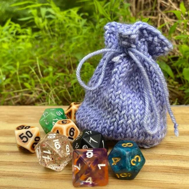 Small Faerie Fire Dice Bag Bags by Avi Clothing/Accessories