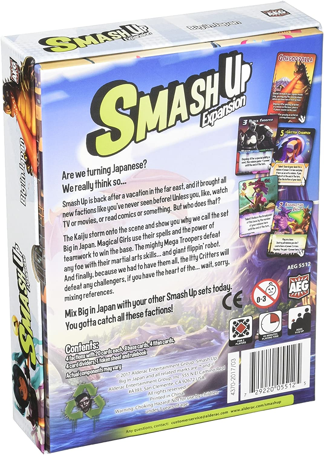 Smash Up: Big in Japan Expansion Alderac Entertainment Group Board Games