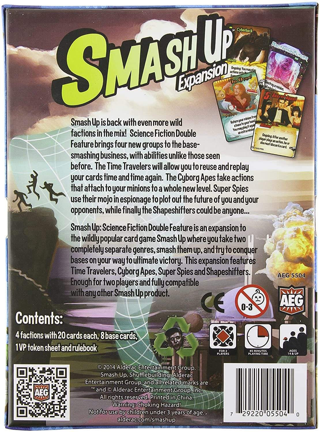 Smash Up: Science Fiction Double Feature Expansion Alliance Games Board Games