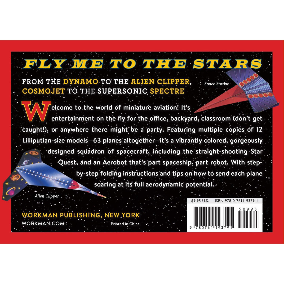 Space Flyers Paper Airplane Book Workman Publishing Co. Projects/Kits