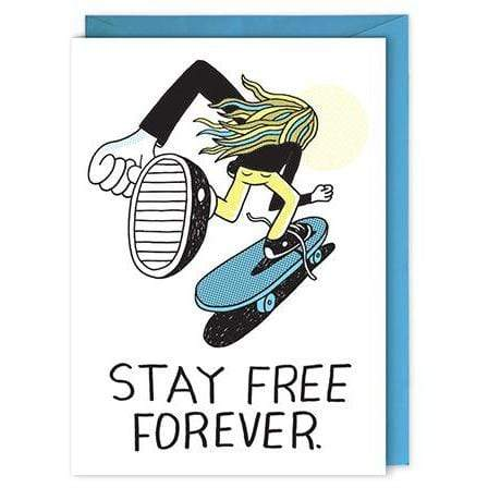 Stay Free Forever card Nelson Line Paper Products