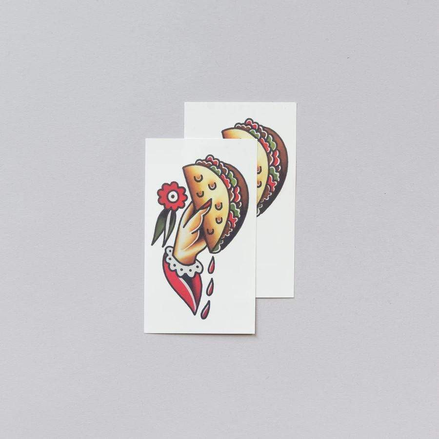 Taco To Go Tattoo Pair Tattly Art Supplies