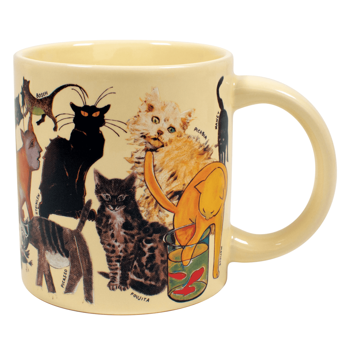 The Artistic Cat mug Unemployed Philosophers Guild Home Decor/Kitchenware