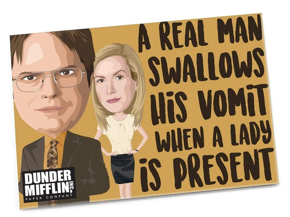 The Office: A Real Man Swallows His Vomit... Magnet Papersalt Paper Products