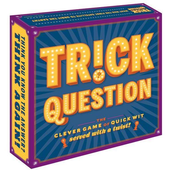 Trick Question Chronicle Books Board Games