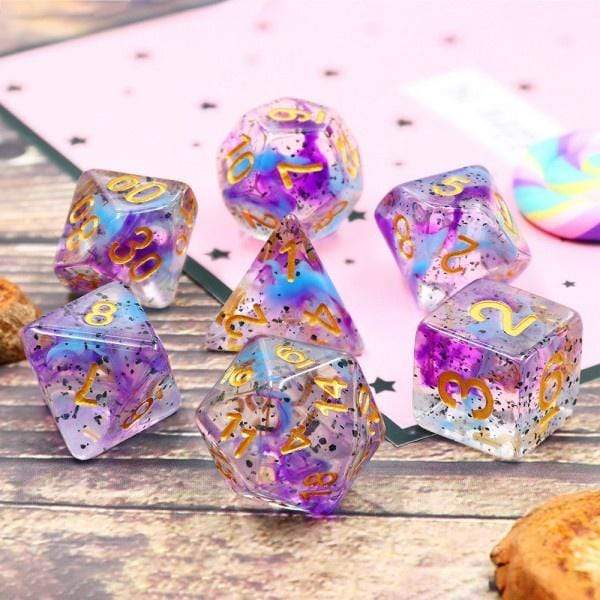 Violet Sulfur dice set HD Dice / Hengda Mfg. Puzzles/Playthings