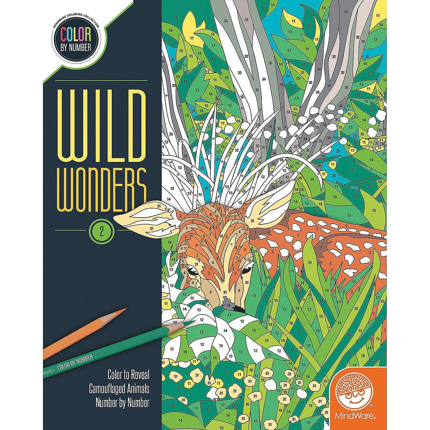 Wild Wonders: Book 2 color by number Mindware Art Supplies