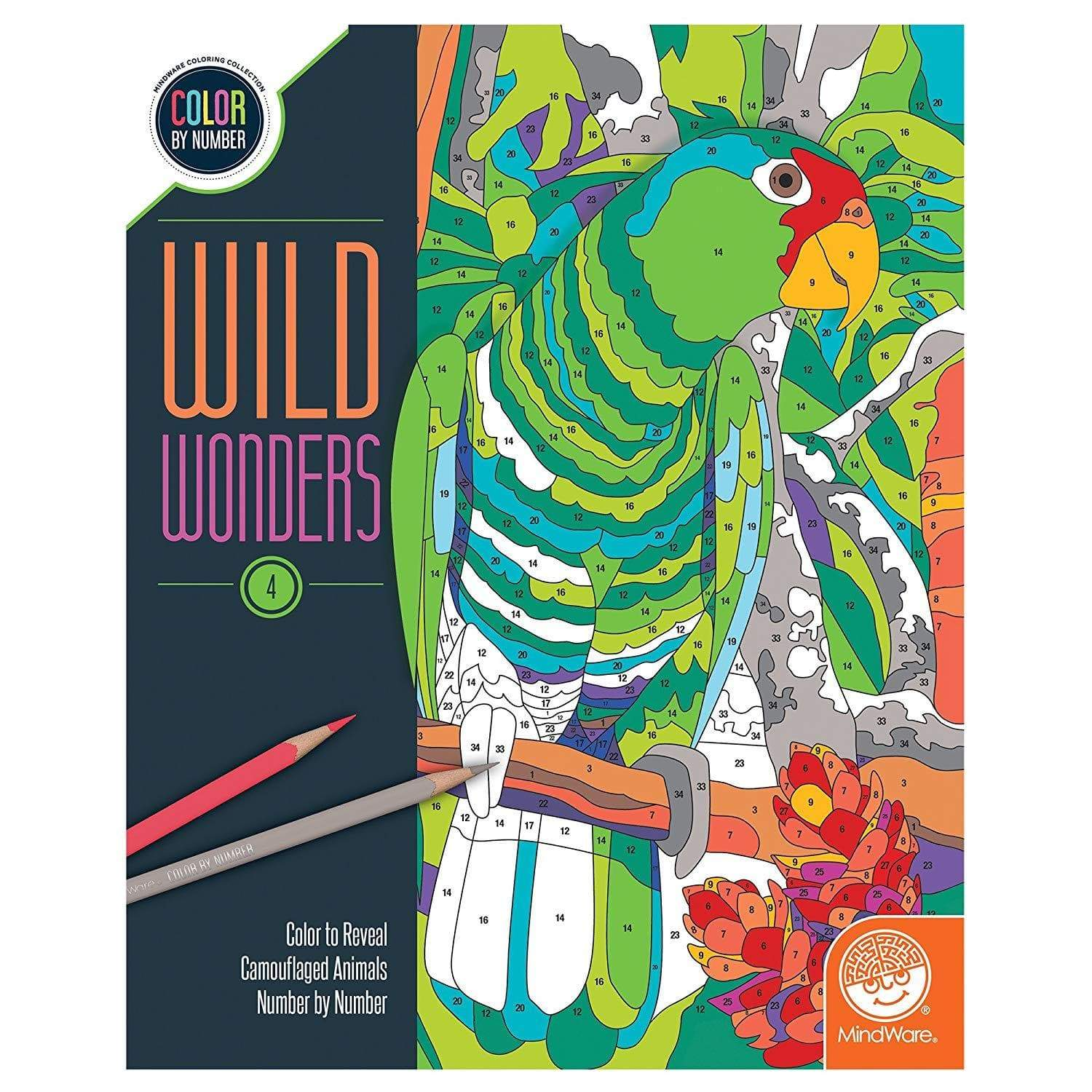 Wild Wonders: Book 4 color by number Mindware Art Supplies