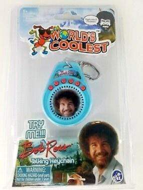 World's Coolest: Bob Ross Talking Keychain Super Impulse Puzzles/Playthings