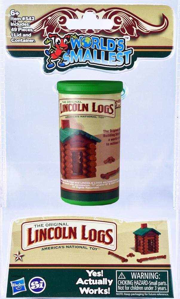 World's Smallest: Lincoln Logs Super Impulse Puzzles/Playthings