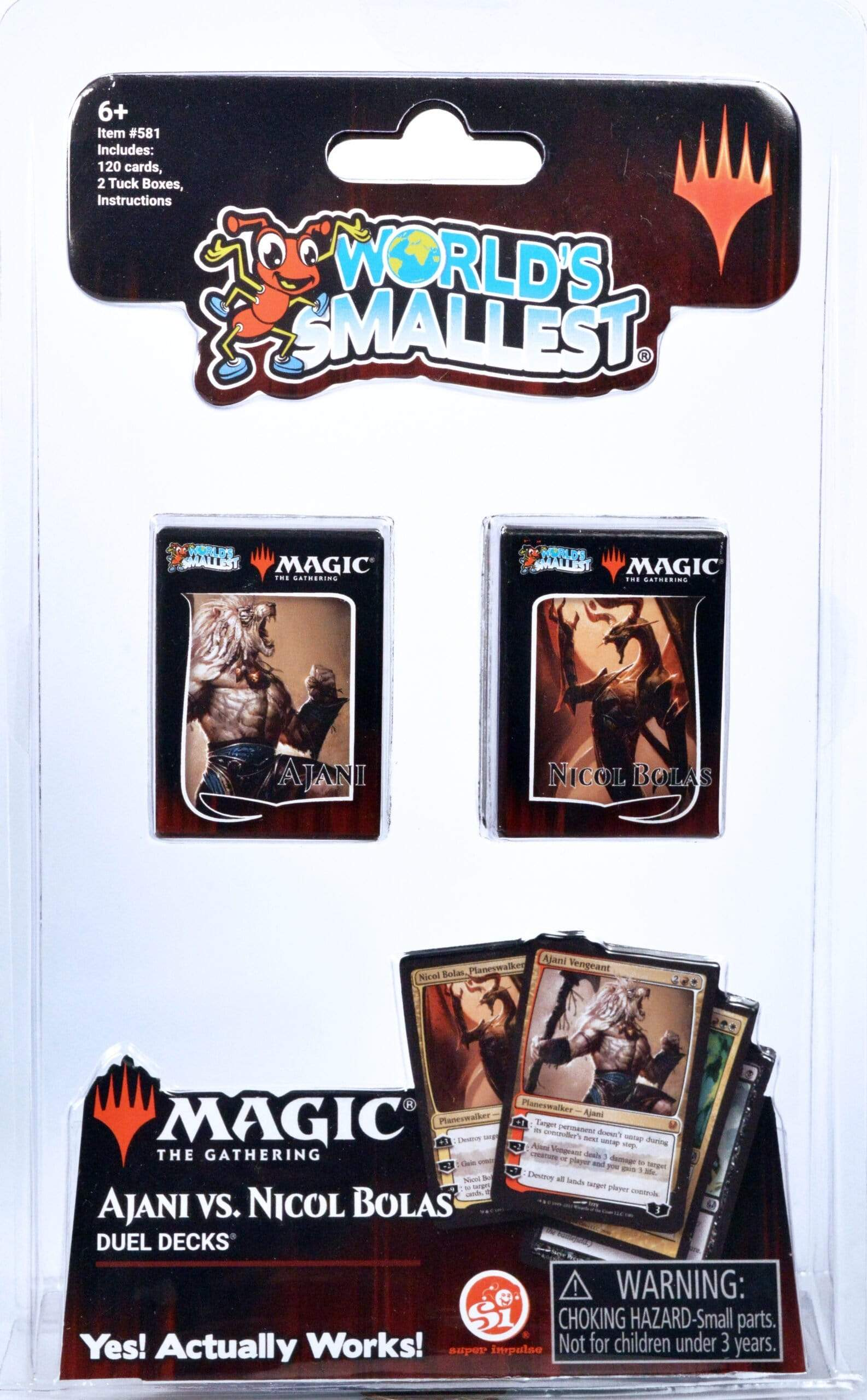 World's Smallest: Magic the Gathering-Ajani vs Nicol Bolas Super Impulse Puzzles/Playthings