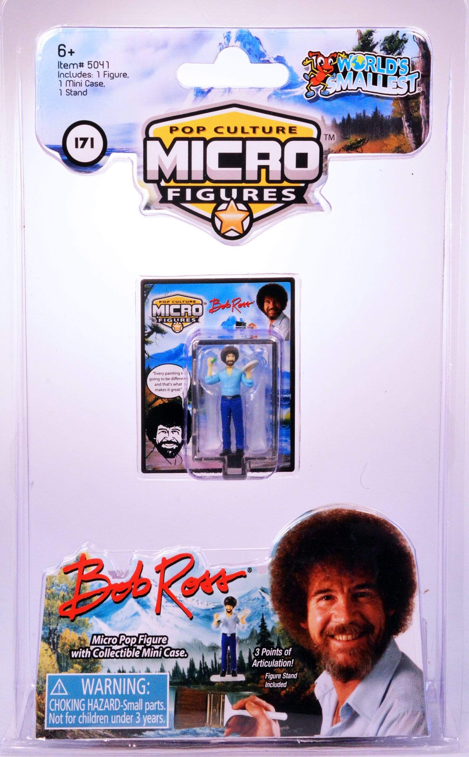 World's Smallest: Micro Figure-Bob Ross Super Impulse Puzzles/Playthings