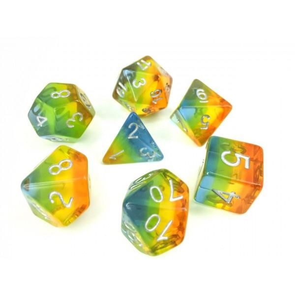 Yellow Aurora dice set HD Dice / Hengda Mfg. Puzzles/Playthings