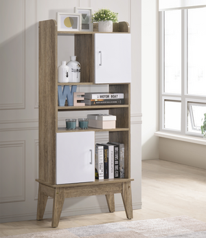 Display Shelves stand Cabinet Oak