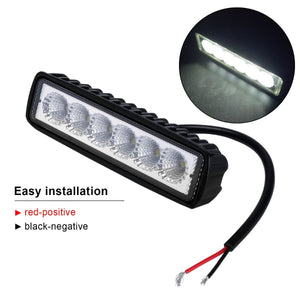 2 x 6inch 18W LED Work Light Bar Driving Lamp Flood Truck Offroad MINING UTE 4WD