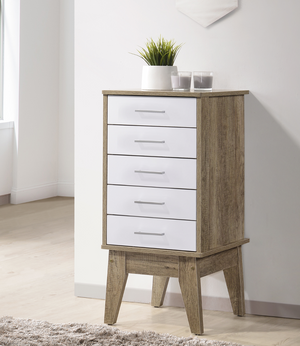 Slimboy 5 chest of drawers Oak