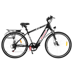 "Phoenix 27"" Electric Bike eBike e-Bike Mountain Bicycle City Battery Motorized Black"