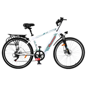 "Phoenix 27"" Electric Bike eBike e-Bike Mountain Bicycle City Battery Motorized White"