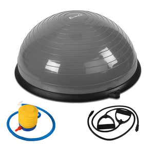 Everfit Balance Ball Trainer Fitness Yoga Gym Exercise Core Pilates Half Grey