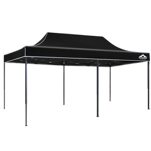 Instahut 3x6m Pop Up Gazebo Replacement Roof Outdoor Wedding Tent Garden Marquee Black