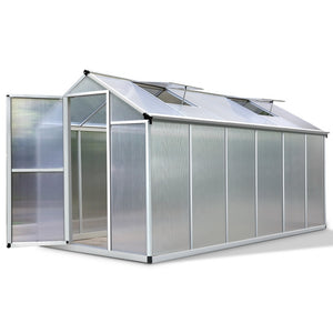 Greenfingers 3.62x1.9M Hobby Polycarbonate Aluminium Greenhouse Garden Grow Plant