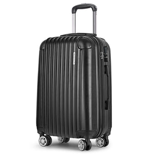 Wanderlite 20inch Lightweight Hard Suit Case Luggage Black