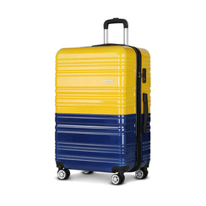 Wanderlite Lightweight Hard Suit Case Luggage Yellow & Purple